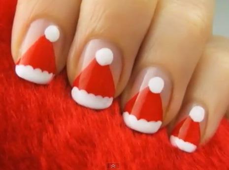 Inspiração de unhas para o Natal