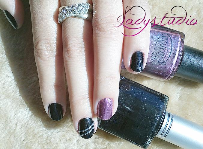 Kinetics Black Silk + Color Club Pink Metallic
