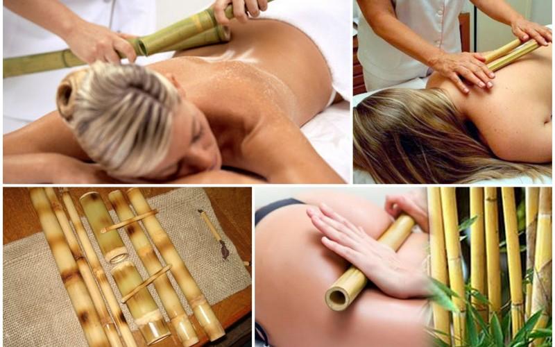 Workshop de massagem com bamboos